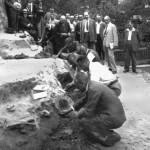 Mamut mega-lelőhelyek: Krems - Wachtberg ásatása 1930-ban, a sajtó előtt