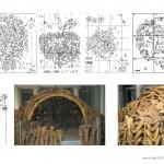 Mamut mega-lelőhelyek: Mezsirics - struktúrák alaprajza és rekonstrukció