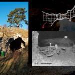 Mamut mega-lelőhelyek: Vogelherd. A barlang alaprajza.