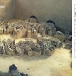 Mamut mega-lelőhelyek: Judinovo. Mamutcsont struktúra nyomai